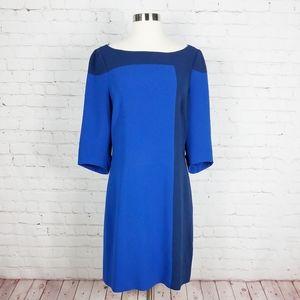 Karen Millen A-line Two Tone Dress | Blue